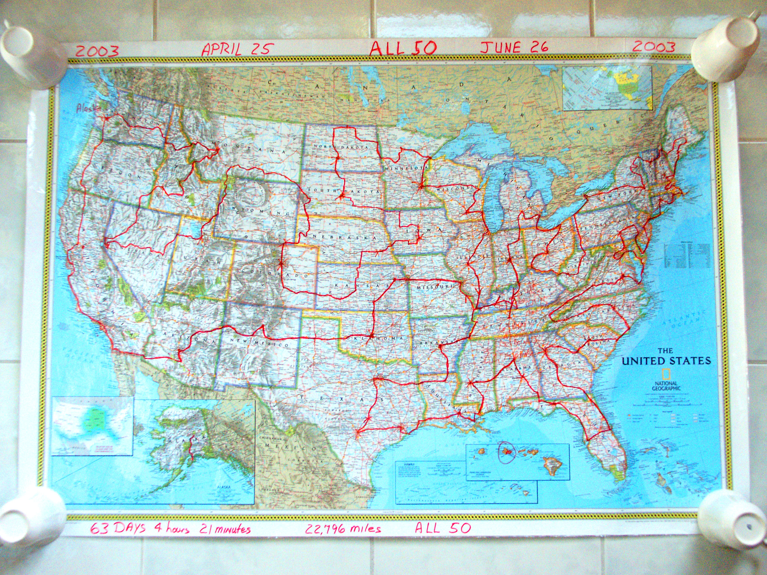 High-res enlargement of All 50 road trip